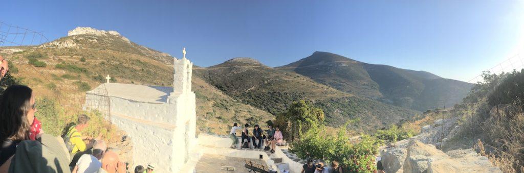 Amorgos Auszeit Frauenreise - Panorama Kapelle